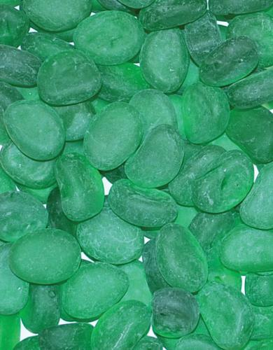 Glass Pebble - Green