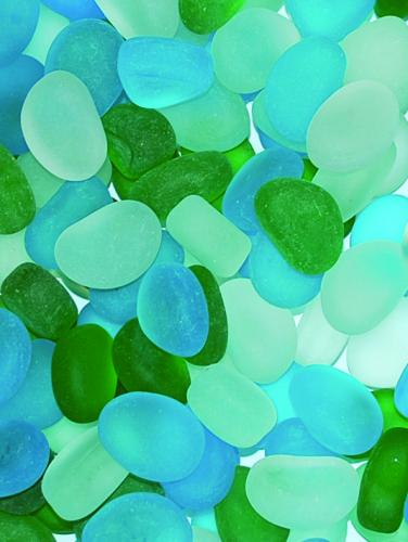 Glass Pebble - Ocean Mix